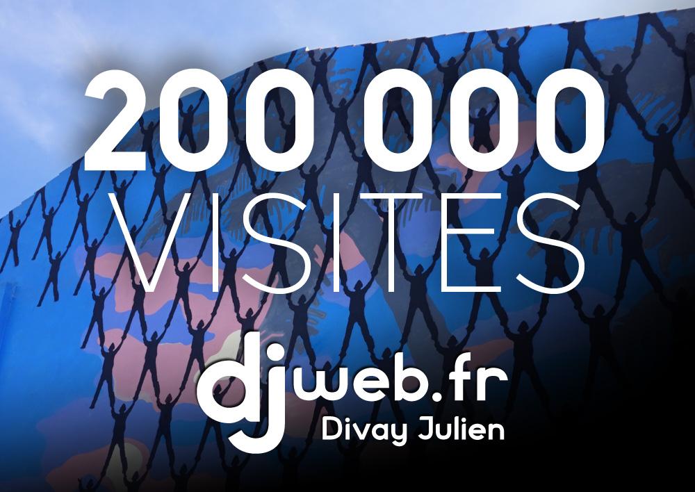 Djweb.fr : 200 000 visites !