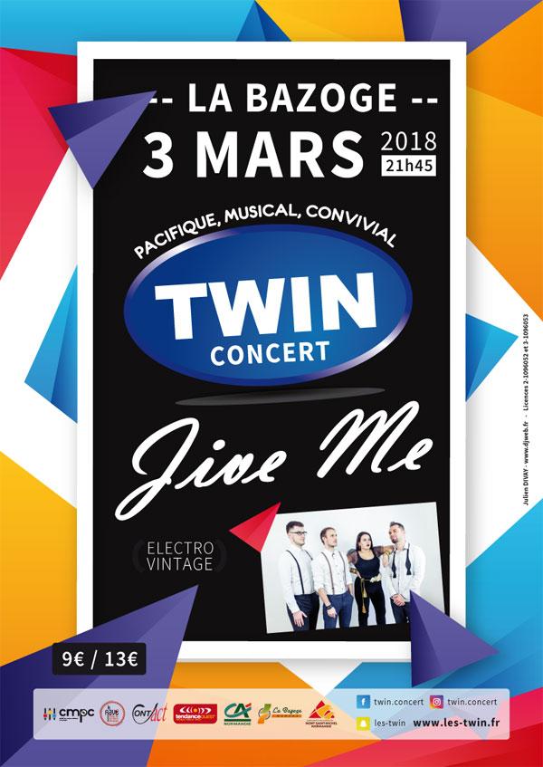 Visuel : Soirée Twin avec le concert de Jive Me
