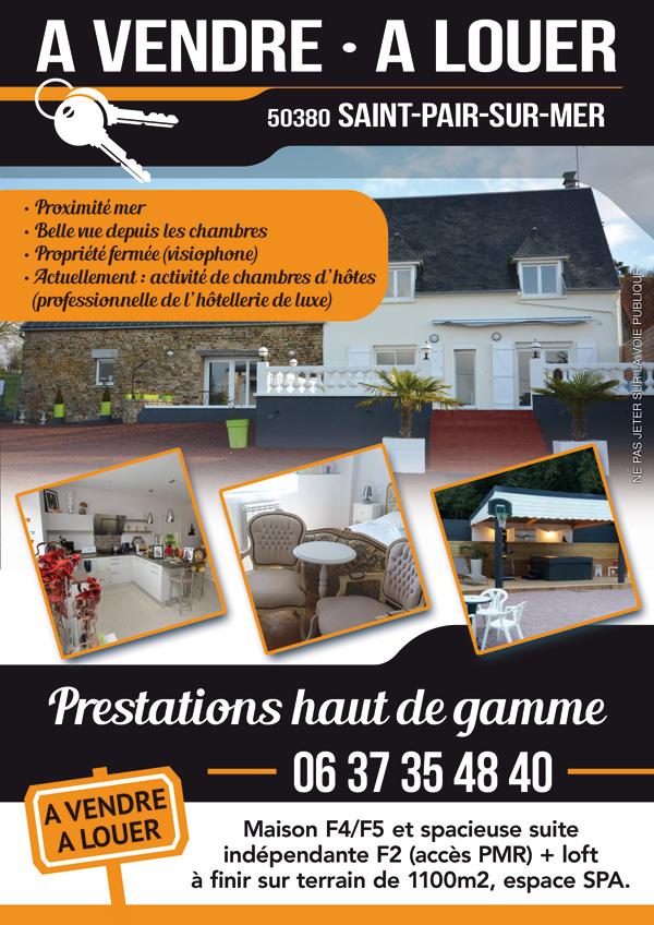 Flyer pour la vente d'une maison