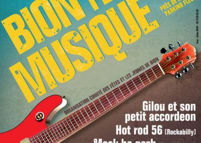 Affiche, Bion Fête la Musique