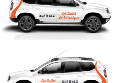 """Stickers véhicule """"Les Suites de Véronique"""""""