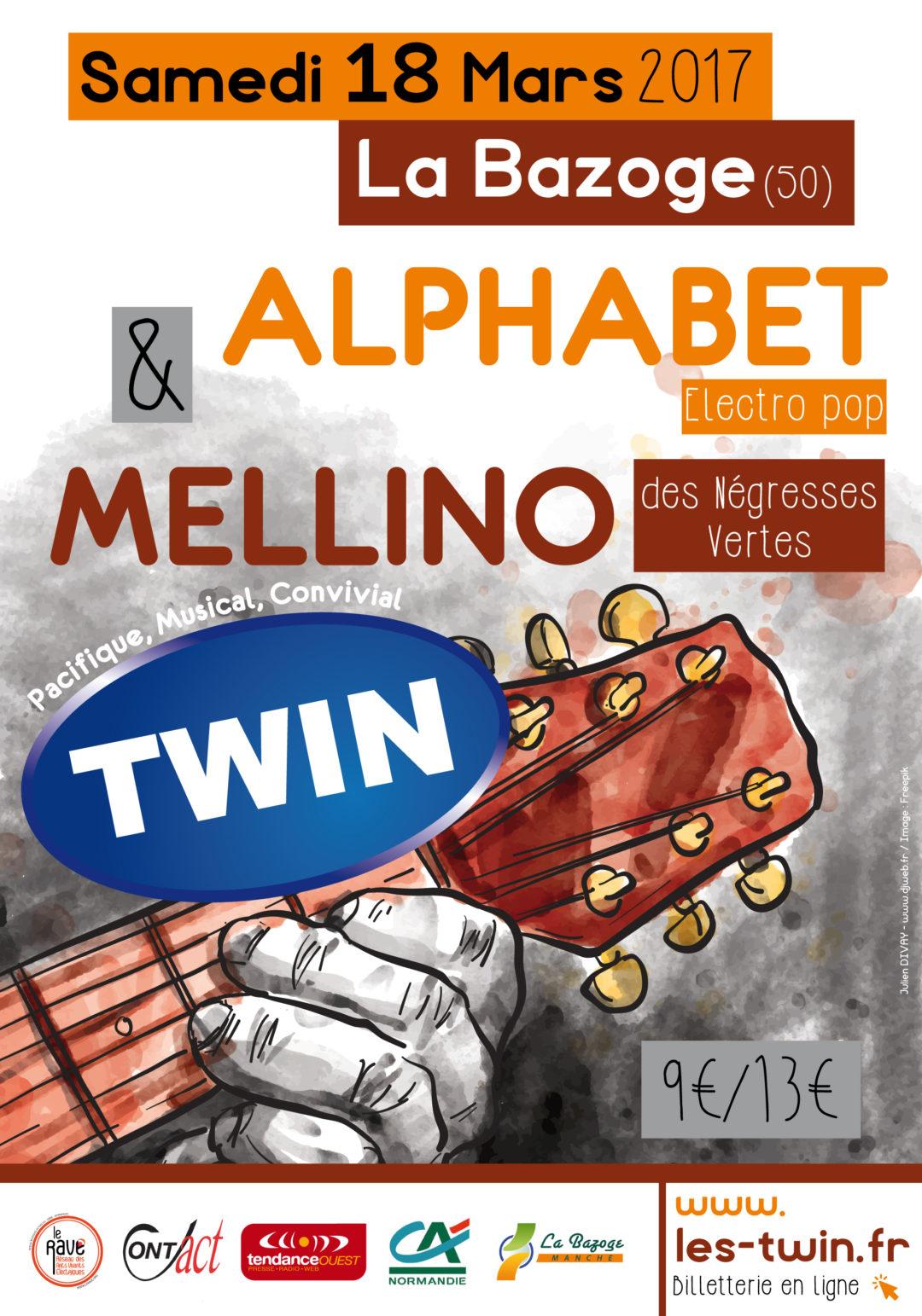 Affiche Concert Twin Alphabet