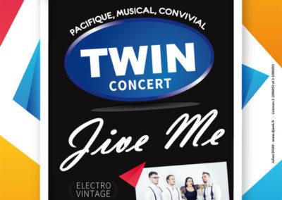Affiche Concert Twin Jive Me