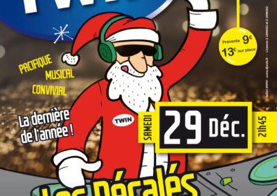 Affiche Twin, concert de Noël