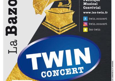 Affiche Concert Twin Lyre le Temps