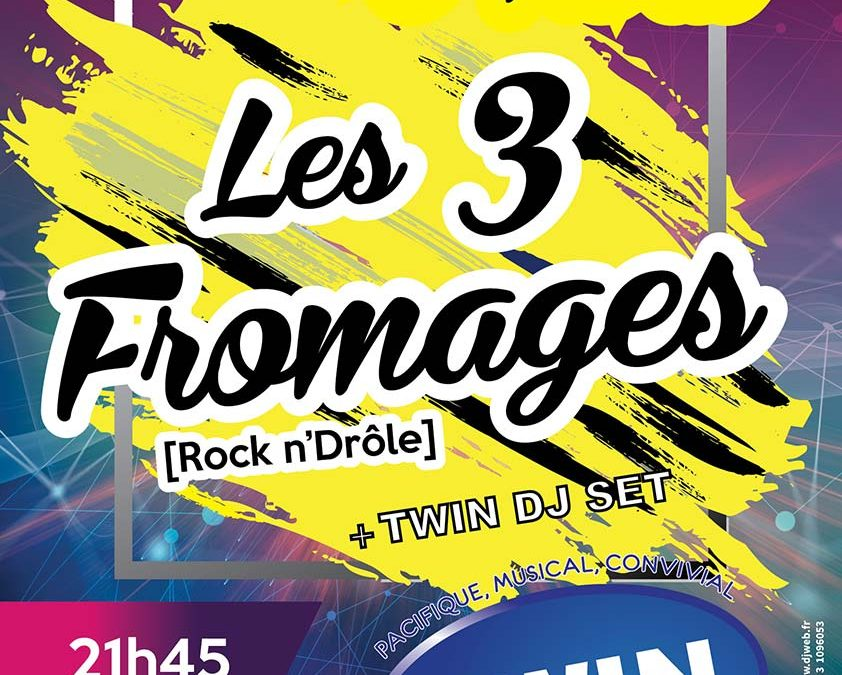 Affiche Twin : Concert les 3 Fromages