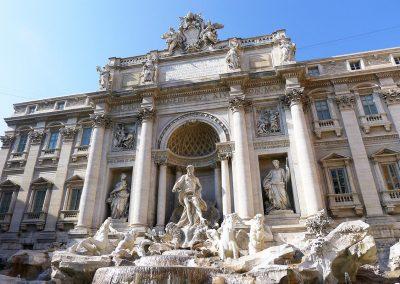Rome, la fontaine de Trevi. Italie
