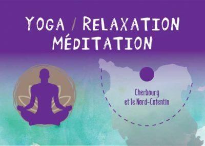 Cartes de visites Yoga en Cotentin