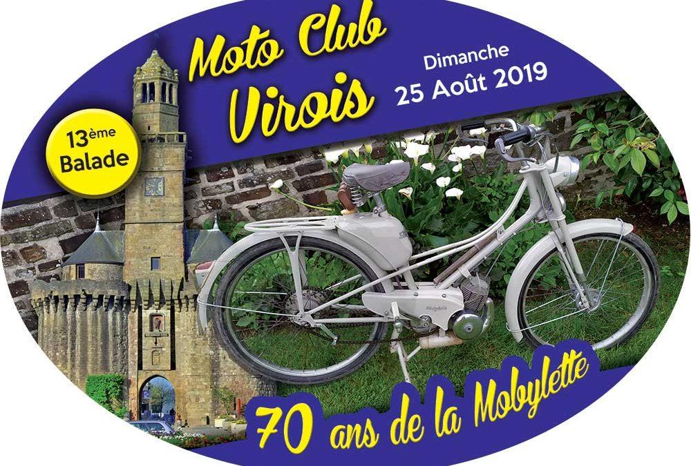 Plaque de collection Moto Club Virois