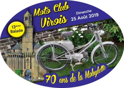 Plaque de collection Moto Club Virois