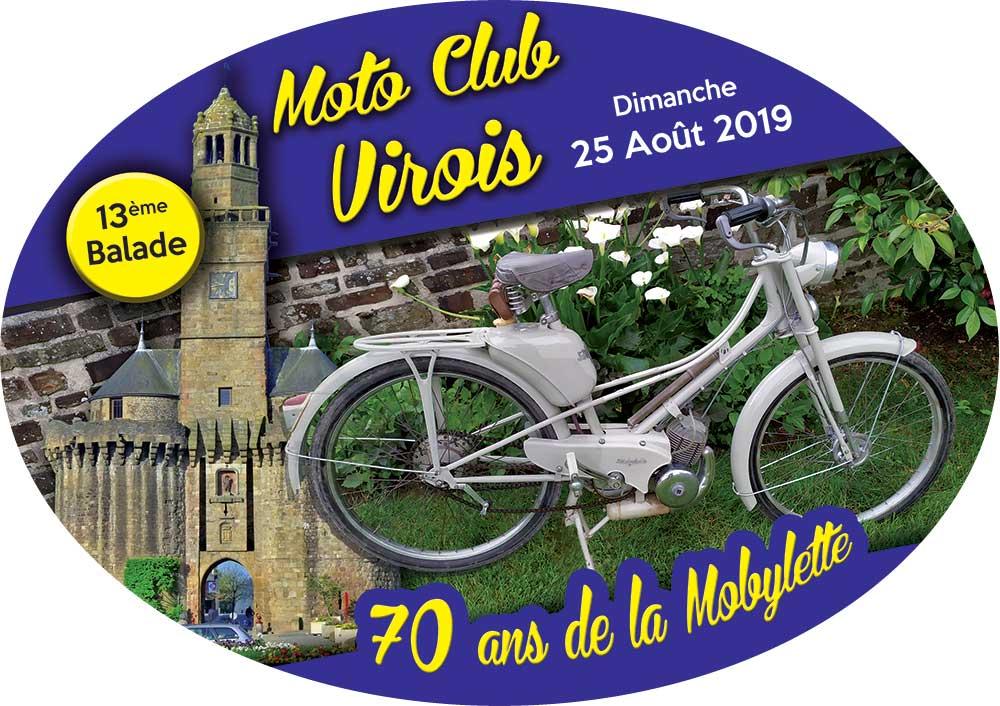 Plaque moto club Virois
