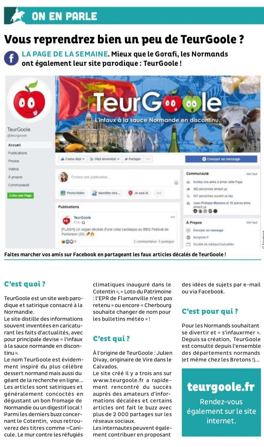 Article de Presse - TeurGoole