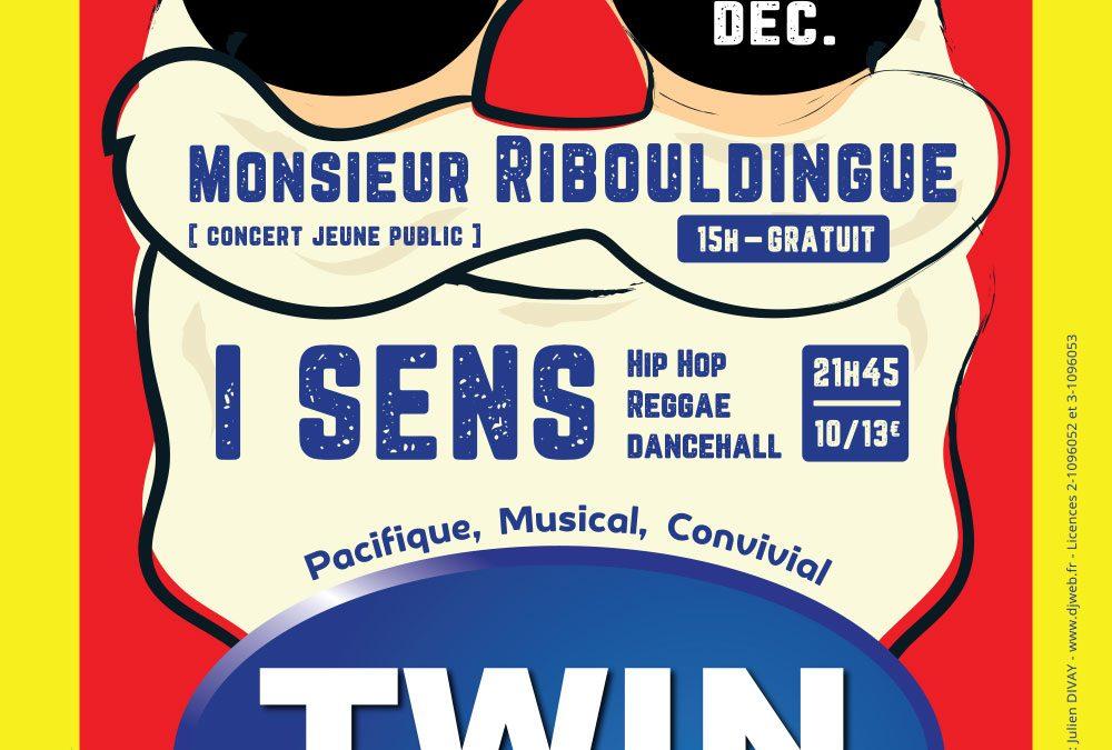Affiche du concert de Noël du collectif TWIN
