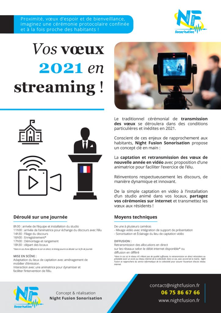Flyer Night Fusion Voeux Streaming